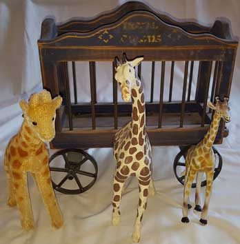 VINTAGE CIRCUS WAGON W 3 GIRAFFES by VARIOUS